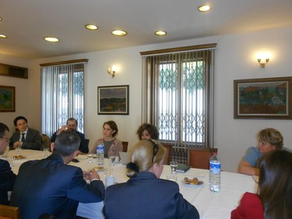 Meeting of diplomats with EU Affairs expert Nilgün Eralp