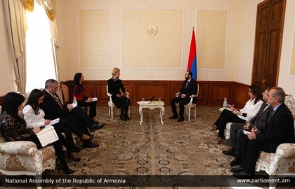 Meeting of Ambassador Pavlova with Ararat Mirzoyan, President of the National Assembly of the Republic of Armenia