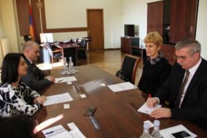 Meeting of Ambassador Pavlova with Zaruhi Batoyan, Minister of Labor and Social Affairs of the Republic of Armenia