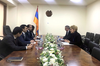 Meeting of Ambassador Pavlova with Hakob Arshakyan, Minister of Transport, Communication and Information Technologies of the Republic of Armenia