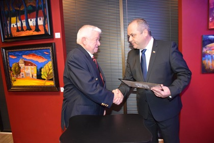 "Shefket Chapadjiev was awarded a ""Golden Laurel Branch"" by the Bulgarian Foreign Ministry"