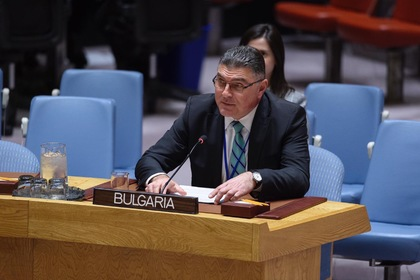 The Permanent Representative of Bulgaria to the UN in New York, Ambassador Panayotov, participated in the UN Security Council Open Debate