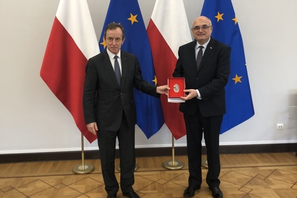 Meeting of Ambassador Emil Yalnazov with the President of the Polish Senate Tomasz Grodzki, in connection with the forthcoming departure from the country