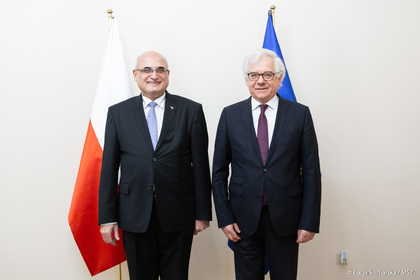 Meeting of Ambassador Emil Yalnazov with the Minister of Foreign Affairs of Poland H.E. Mr. Jacek Czaputowicz, in connection with the forthcoming departure of the Ambassador