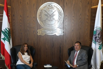 Ambassador Belev met with Deputy Prime Minister and Minister of Defense of the Lebanese Republic Zeina Akar