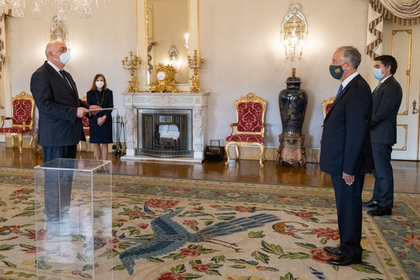 Ambassador Ivan Naydenov presented his credentials to the President of Portugal