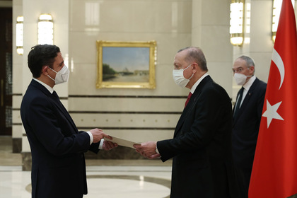 Ambassador Angel Cholakov presented his credentials to the President of Turkey